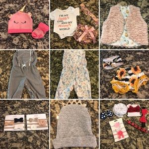 0-6m baby girl Lot EUC